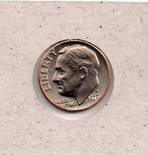1977d BU Roosevelt Dime
