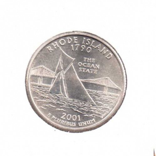 2001p BU Rhode Island Washington Quarter