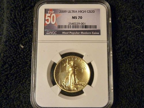 2009 W Saint Gaudens Gold $20 Double Eagle: Ultra High Relief MS 70