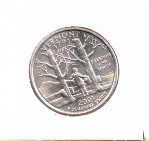 2001d BU Vermont Washington Quarter