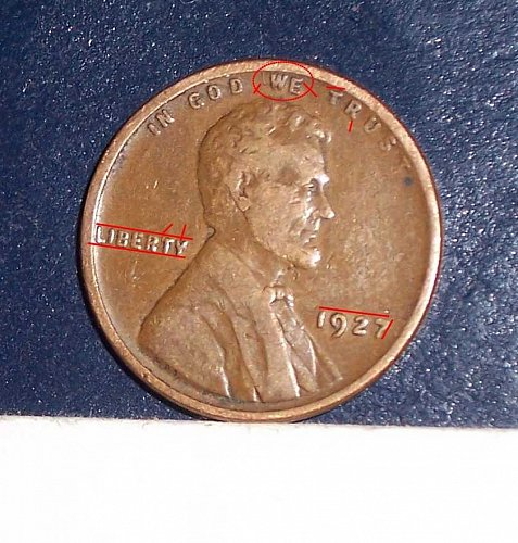 1927 P Lincoln Wheat Cent Small Cents