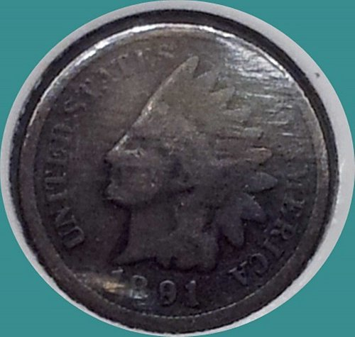 1891 P Indian Head Cent