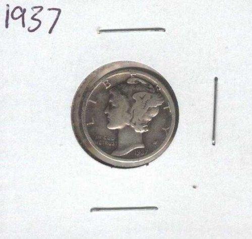 1937 Mercury Silver Dime