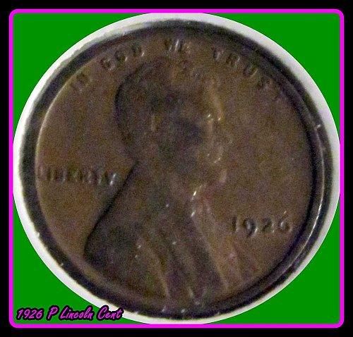 1926 P Lincoln Wheat Cent                     1926 P Lincoln Wheat Cent