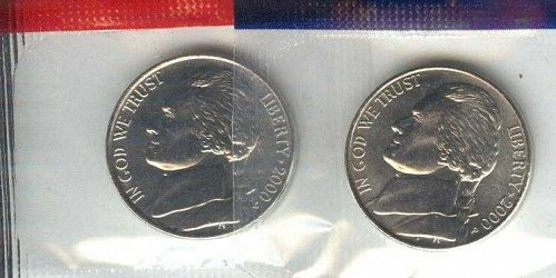 2000 P+D NICKEL SET UNCIRCULATED STILL IN MINT CELLO