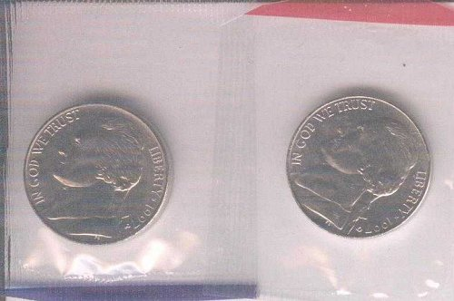 1997 P+D NICKEL SET UNCIRCULATED STILL IN MINT CELLO
