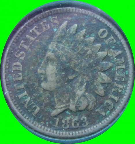 1863 P INDIAN HEAD CENT