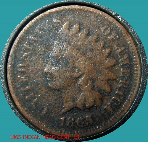1865 P INDIAN HEAD CENT