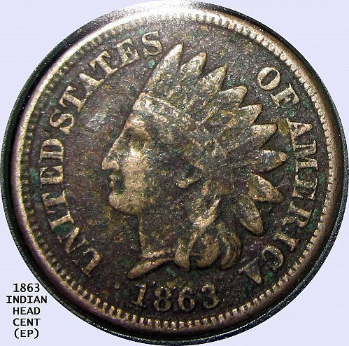 1863 INDIAN HEAD CENT BEAUTIFUL