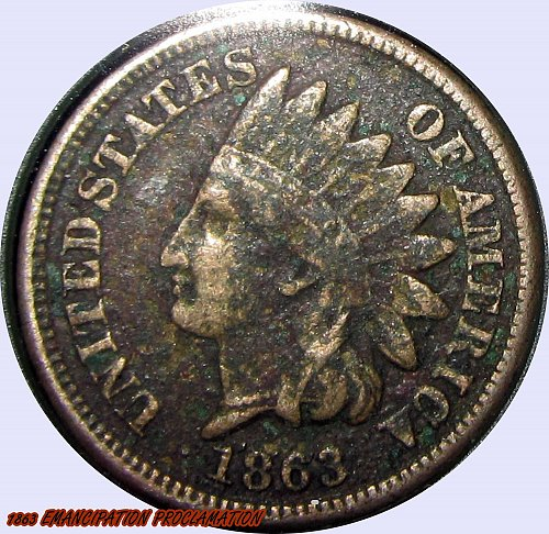 1863 Indian Head Cent   Very Nice