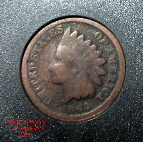 1864 Indian Head Cent   Copper -Nickel