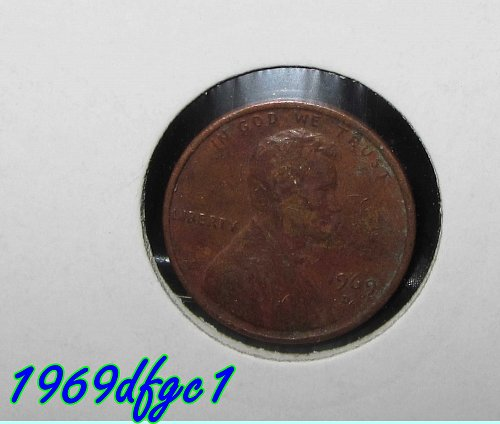 1969 D Lincoln Cents Lot of 4