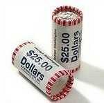 ROLL OF UNCIRCULATED DOLLAR COINS