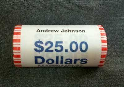 2011 P ANDREW JOHNSON Presidential Dollar Roll Mint Wrapped HEAD TAILS BU Roll