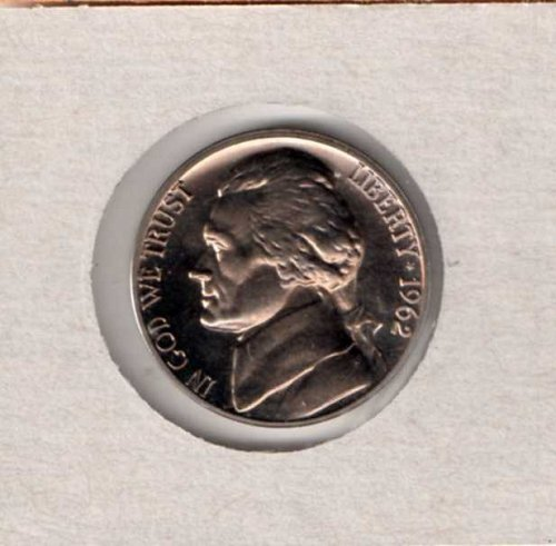 1962 p Proof Jefferson Nickel