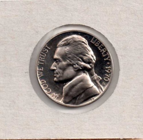 1970 s Proof Jefferson Nickel