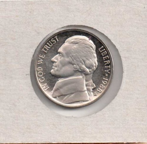 1988 s Proof Jefferson Nickel