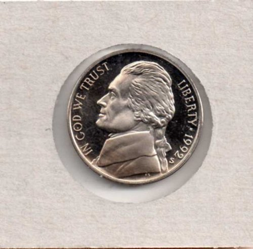 1992 s Proof Jefferson Nickel