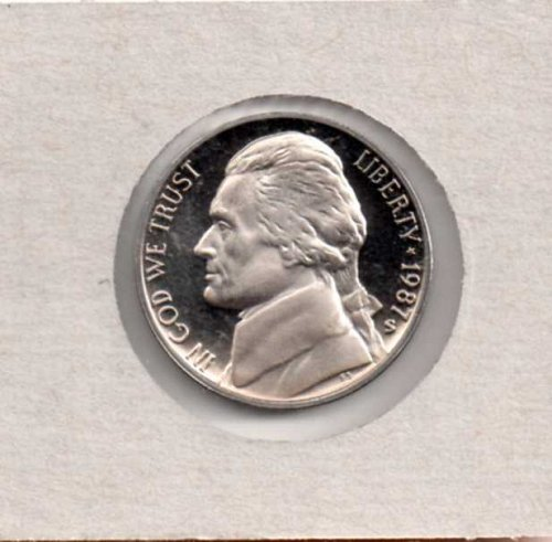 1987 s Proof Jefferson Nickel