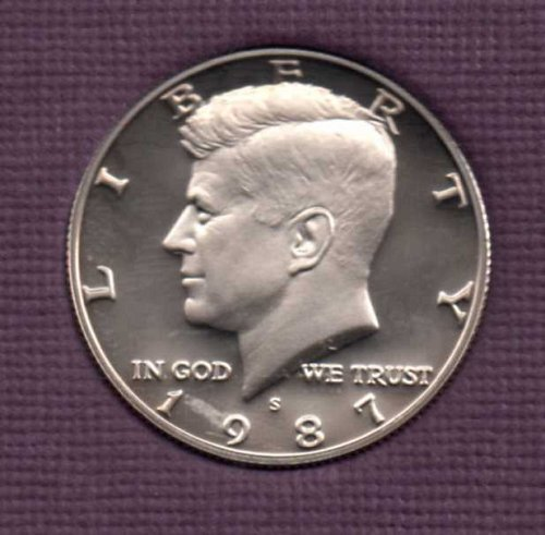 1987 s Proof Kennedy Half Dollar