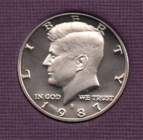 1987 s Proof Kennedy Half Dollar