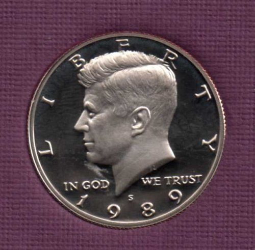 1989 s Proof Kennedy Half Dollar