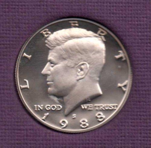 1988 s Proof Kennedy Half Dollar
