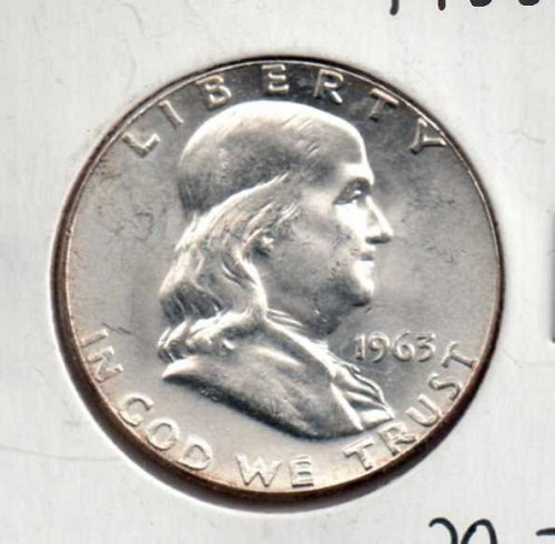 1963 p BU Franklin Half Dollar        #1