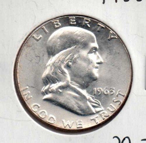 1963 p BU Franklin Half Dollar        #1