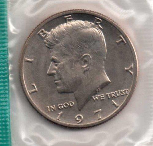 1971 p BU Kennedy Half Dollar