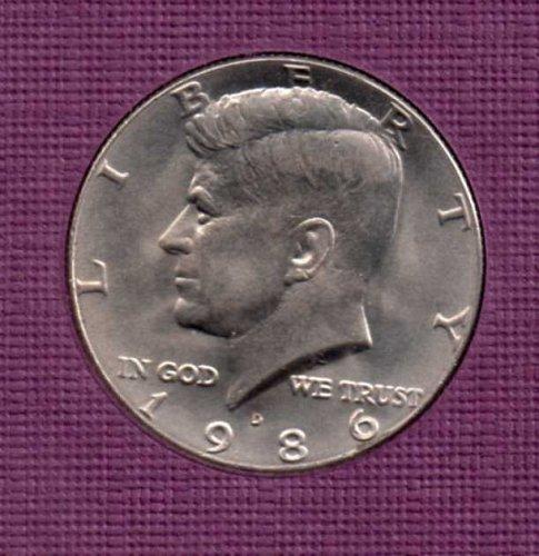 1986 d BU Kennedy Half Dollar