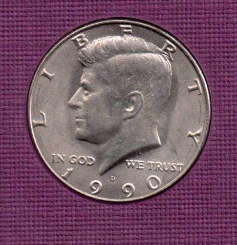 1990 d UNC Kennedy Half Dollar