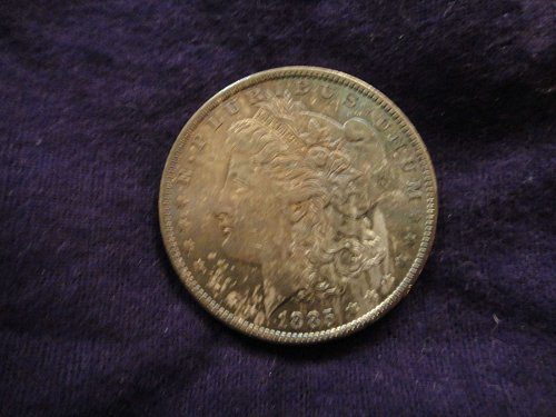1885-O Morgan Dollar MS-64 (Near Gem) Double Sided Gorgous Toning!