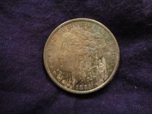 1885-O Morgan Dollar MS-64 (Near Gem) Double Sided Gorgous Toning!