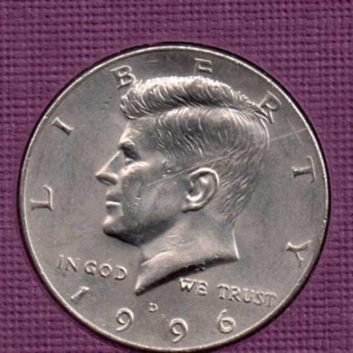 1996 d UNC Kennedy Half Dollar