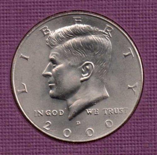 2000 d BU Kennedy Half Dollar