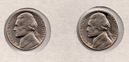 1977 p+d BU Jefferson Nickels