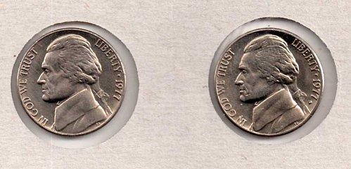 1977 p+d BU Jefferson Nickels