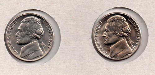 1973 p+d BU Jefferson Nickels