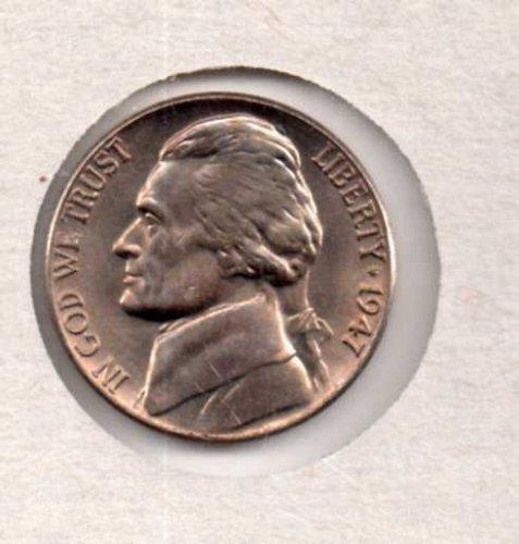 1947 p BU Jefferson Nickel