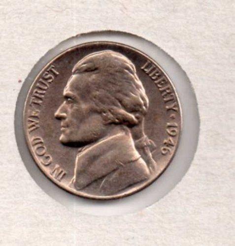 1946 p BU Jefferson Nickel