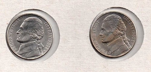 2004 p+d AU Jefferson Nickels:  Keelboat