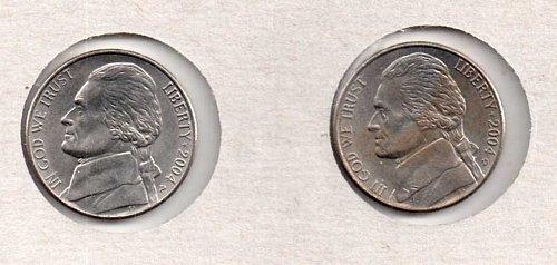 2004 p+d AU Jefferson Nickels:  Keelboat