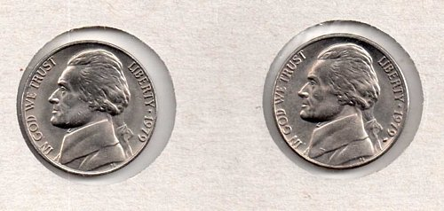 1979 p+d BU Jefferson Nickels