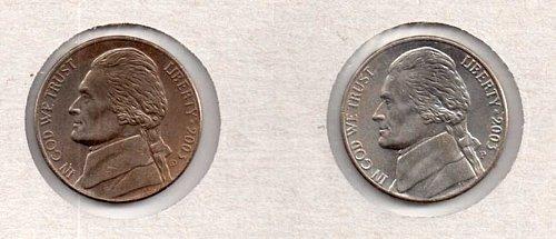 2003 p+d BU Jefferson Nickels
