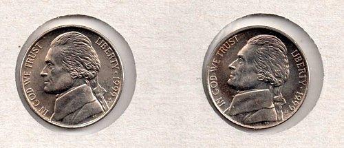 1999 p+d BU Jefferson Nickels