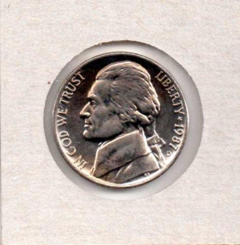 1987 d BU Jefferson Nickel