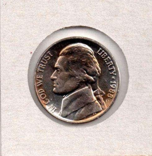 1988 d BU Jefferson Nickel