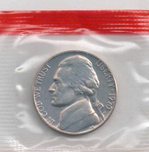 1970 d BU Jefferson Nickel