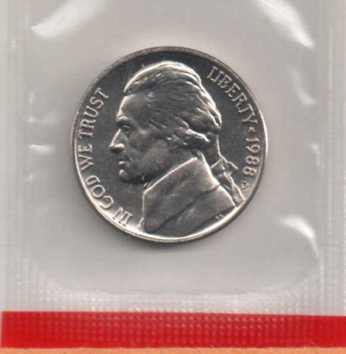 1988 d BU Jefferson Nickel       #2